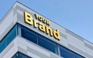 3d Building Sign Logo Mockup