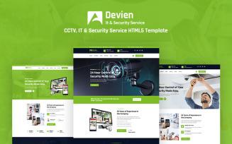Devien - CCTV, IT & Security Service Responsive HTML5 Website Template