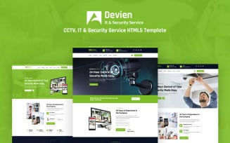 Devien - CCTV, IT and Security Service Responsive HTML5 Website Template