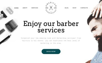 Free Barber Shop Responsive Multipage Website Template