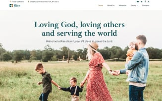 Free Rise - Responsive Church Website Template
