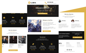 Laws – Multipurpose Lawyer, Attorney and Law Office Email Newsletter Template