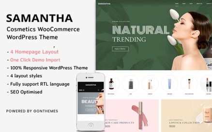 Samantha - Cosmetics WooCommerce WordPress Theme WooCommerce Theme