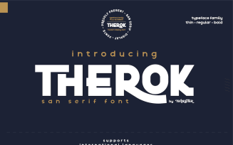 Therok - Elegant San Serif Font