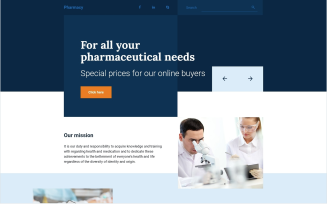 Drug Store Free Responsive Landing Page Template