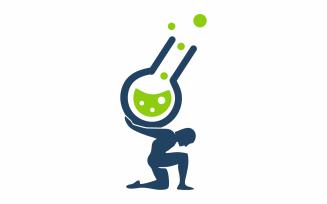 Laboratory Atlas Logo Template