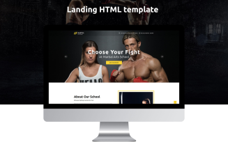 Martial Arts School Free Landing Page Template
