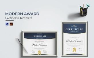 Modern Awards Certificate Template