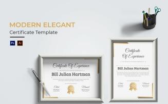 Modern Elegants Certificate template
