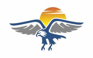 Mountain Eagle Logo Template