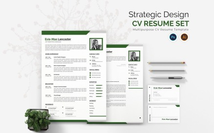 Strategic Design CV Printable Resume Templates
