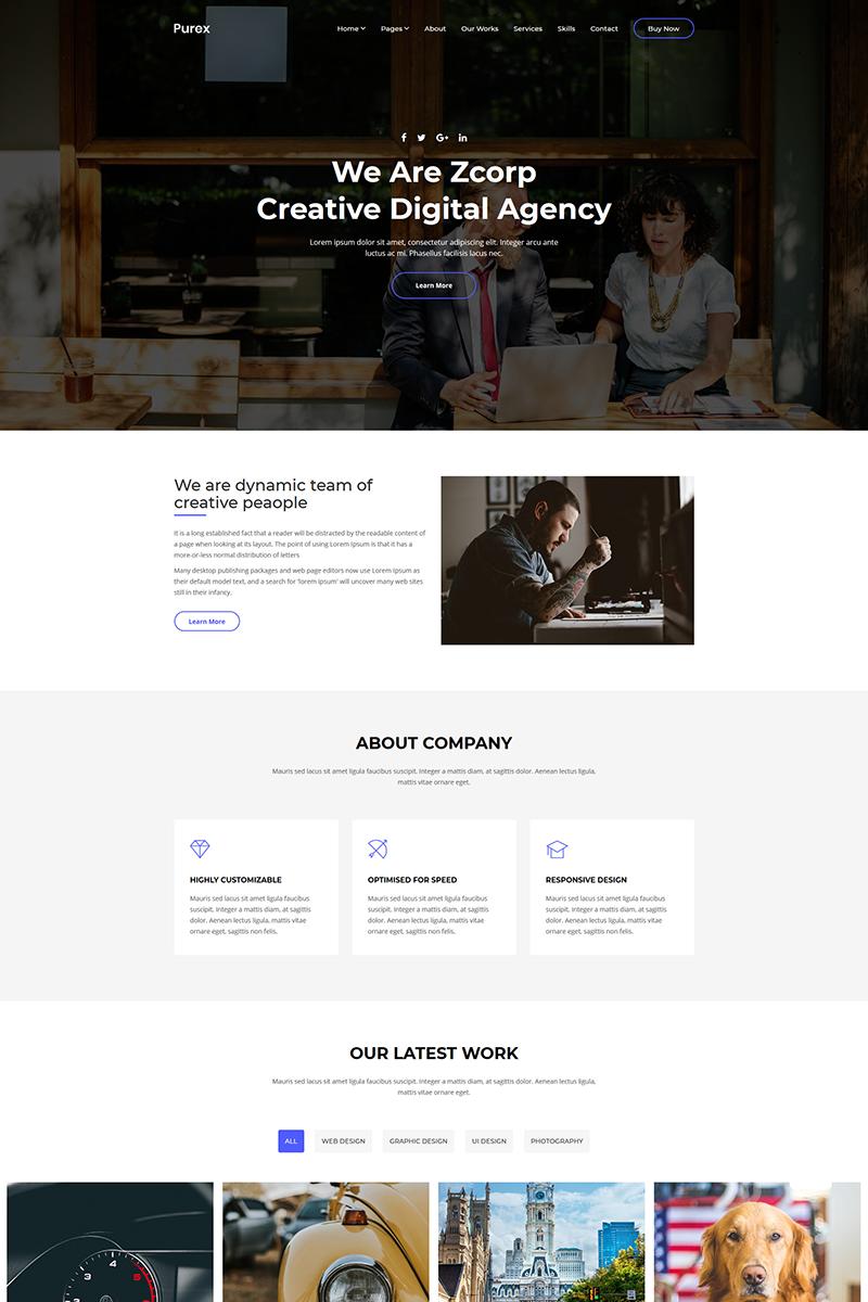 Purex - Creative Agency Website Template