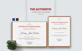 Authentic Design Certificate template