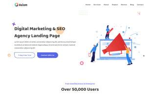 Axiom - SEO Agency & Digital Marketing Landing Page Template
