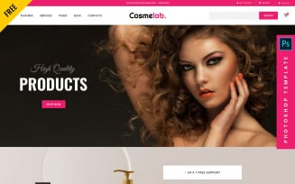 Cosmelab- Free eCommerce PSD Template