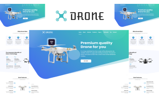 Drone - Product Landing Page HTML5 Template