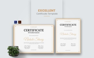 Excellent Academy Certificate template