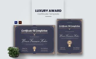 Luxury Award Certificate Template