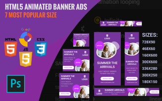 Purple - Html5 Animated Banner Template