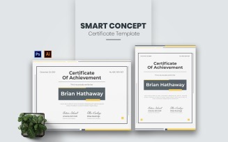 Smart Concept Certificate template