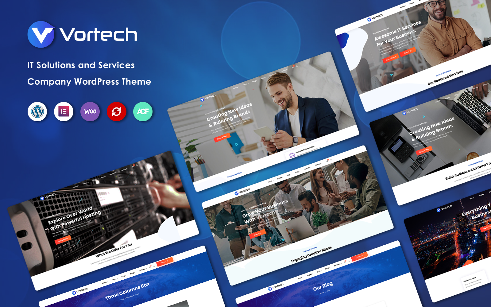 Vortech - IT Solutions and Services Company WordPress Theme