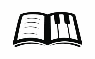 Abstract Piano Book Logo Template