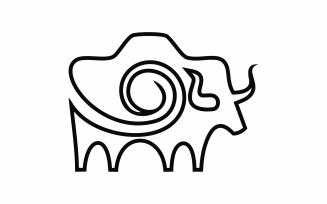 Camera Bull Abstract Logo Template