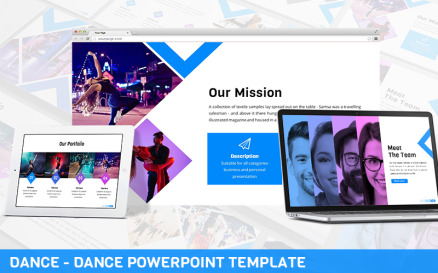 Dance - Dance Powerpoint Template PowerPoint Template