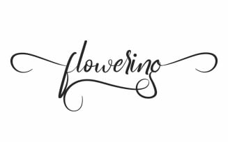Flowering Calligraphy Handwriting Font