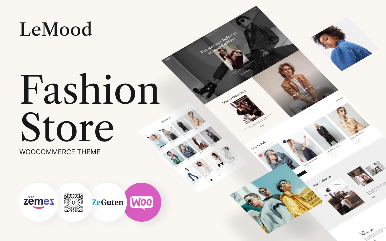 LeMood - Modewinkel Gutenberg WooCommerce-thema