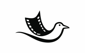 Movie Bird Abstract Logo Template