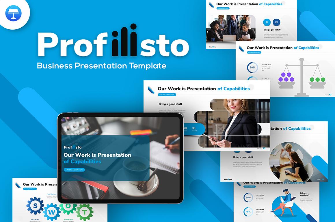 Profilisto Business Creative Keynote-sjabloon