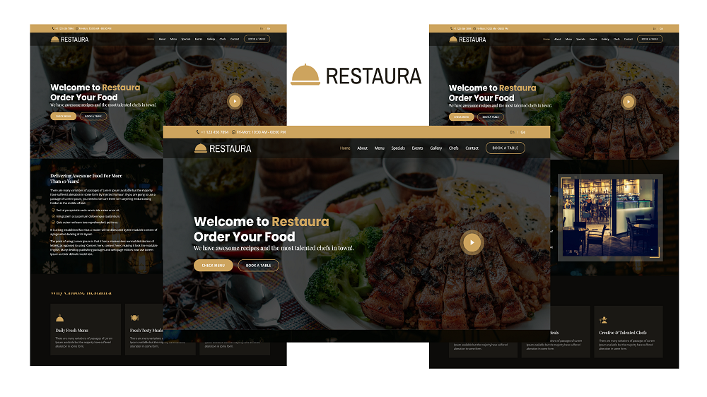 Restaura - Bootstrap 5-sjabloon voor bestemmingspagina van restaurant