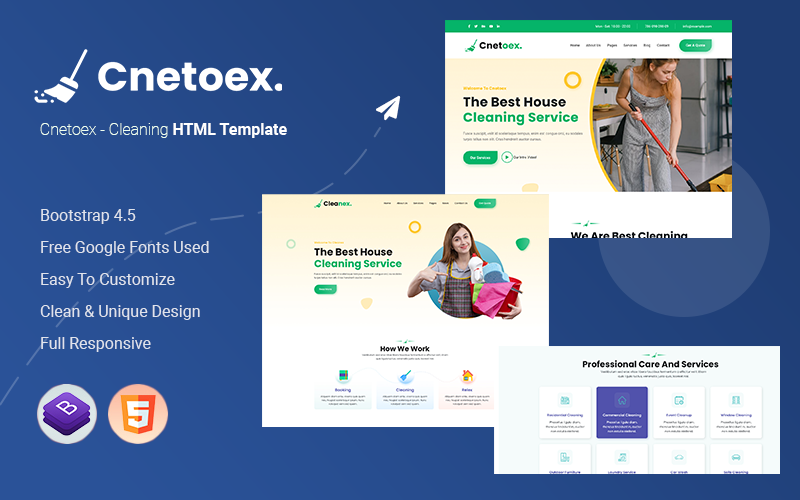 Cnetoex - Cleaning HTML Template