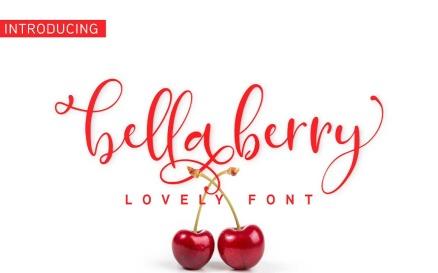 BellaBerry Lovely Script Fonts