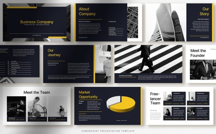 Bold Modern Business Company Presentation PowerPoint Template
