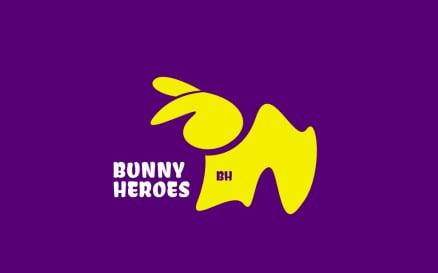 Bunny Hero Logo Design Template Logo Template