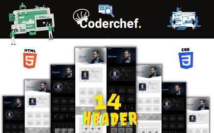 Coderchef - Modern Html Portfolio Template Landing Page Template