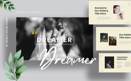 Dreamer Lookbook Powerpoint PowerPoint Template
