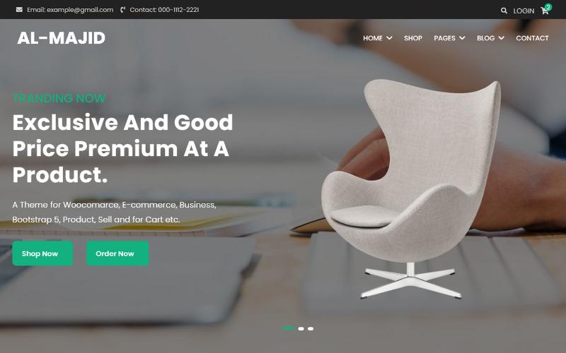 Glorified- Free E-commerce Website Template