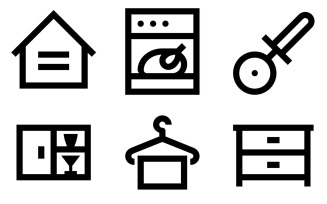 Household Icon Pack in Windows 10 Style