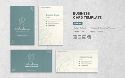 Marlina - Business Card Template Corporate Identity