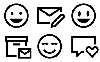 Messaging Icon Pack in Windows 10 Style