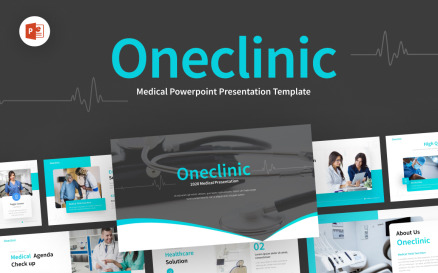OneClinic Medical Creative Modern PowerPoint Template
