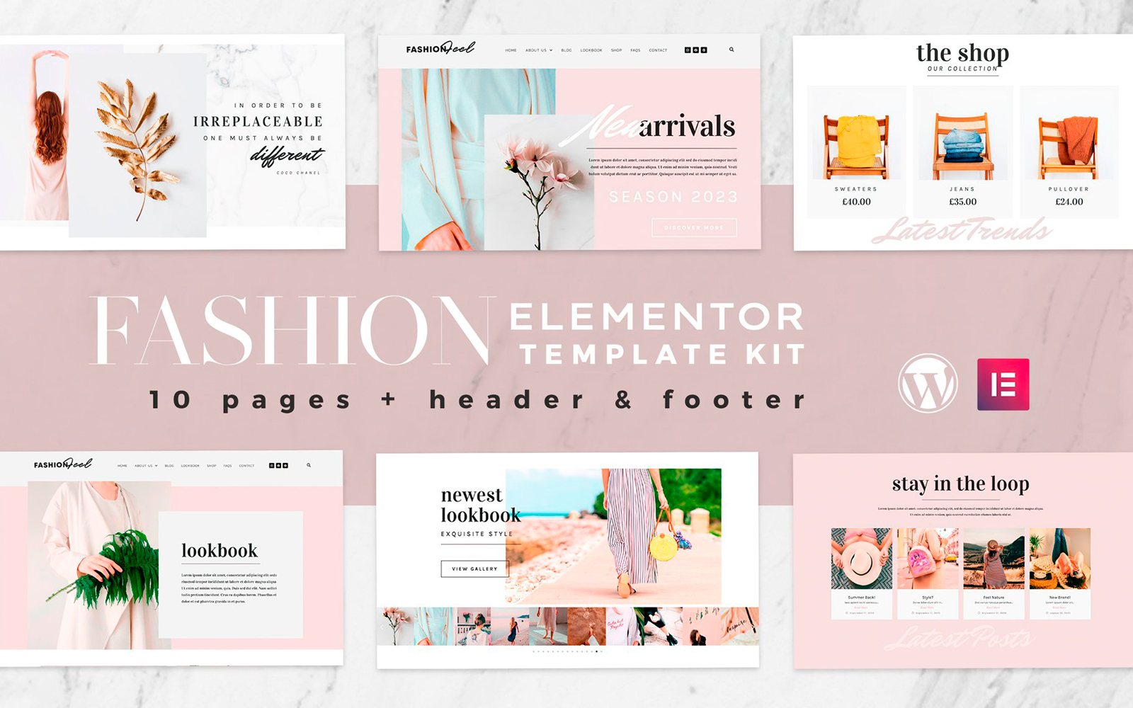Fashion Feel - Elementor Template Kit - WooCommerce-compatibel