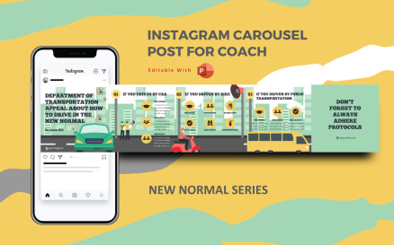 How to Drive in The New Normal - Instagram Carousel Powerpoint Social Media