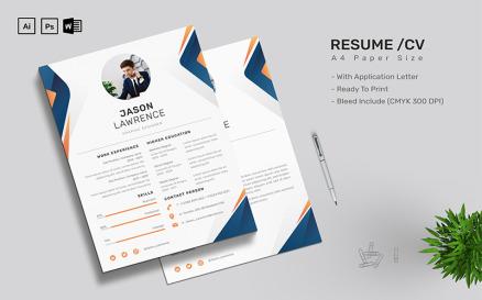 Jason Lawrence - CV Printable Resume Templates