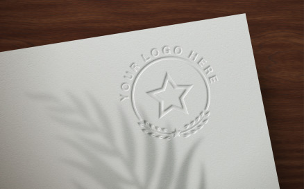Logo Mockup Embossed on Paper - Product Mockup