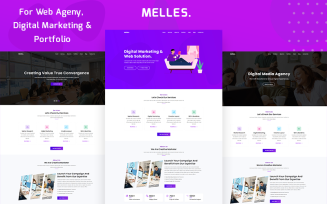 Melles - Creative Agency & Business Consulting HTML Landing Page Template