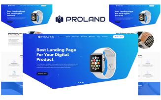 Proland - Product Landing Page HTML5 Landing Page Template